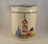 Noel  ~  UTENSIL JAR ... Birdhouse Design  *  NEW From Our Shop