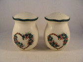 Noel  ~  SALT & PEPPER ... Green Heart Flower  *  NEW From Our Shop