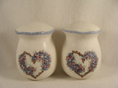Noel  ~  SALT & PEPPER ... Blue/Rose Heart Flower  *  NEW From Our Shop