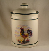 Noel  ~  ROOSTER DESIGN ... Small Canister  *  NEW From Our Retail Shop