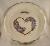 Noel  ~  PIE PLATE ... Blue Heart & Flower Design  *  NEW From Our Shop