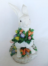 Large   BUNNY RABBIT  With TULIPS & CARROTS  *  NIB