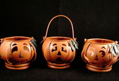 HALLOWEEN JACK-0-LANTERN VOTIVE HOLDERS * SET OF 3