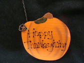 HAPPY  THANKSGIVING  *  WOOD  PUMPKIN  *  NEW