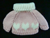 Ganz  ~  KNIT SWEATER ... Pink With Hearts  *  NWT