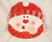 Enesco  ~  WHIMSY IN THE SNOW ... Snowman Plate  *  NEW From Our Shop