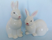 Enesco  ~  Pair WHITE BUNNY RABBITS  *  NEW From Our Retail Shop
