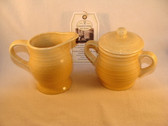 Enesco  ~  COUNTRY LIVING ... Yellow SUGAR & CREAMER  *  NEW From Our Shop