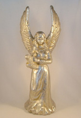 "Enesco  ~  ANGEL w/HARP ... 14"" Candleholder  *  NEW From Our Retail Shop"