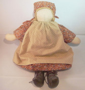 "Doll ... Handmade Cloth 14"" Prairie Doll"