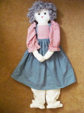 "DOLL ... Handmade Cloth 28"" Homespun Doll"