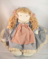 "DOLL ... Handmade Cloth 13"" Country Girl"