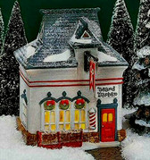 Dept. 56  ~  North Pole BEARD  BARBER  SHOP  *  NEW From Our Retail Shop