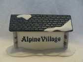 Dept 56  ~  ALPINE VILLAGE ... Sign  *  NEW From Our Retail Shop