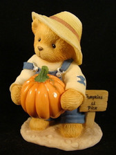 Cherished Teddies ~ ED With PUMPKIN & CARVING SET *  NEW From Our Shop
