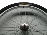 Front Wheel with Hookworm Tire