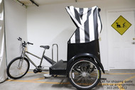 Broadway Pedicab w/ Canopy and E-Assist - Black&White - Gently Used