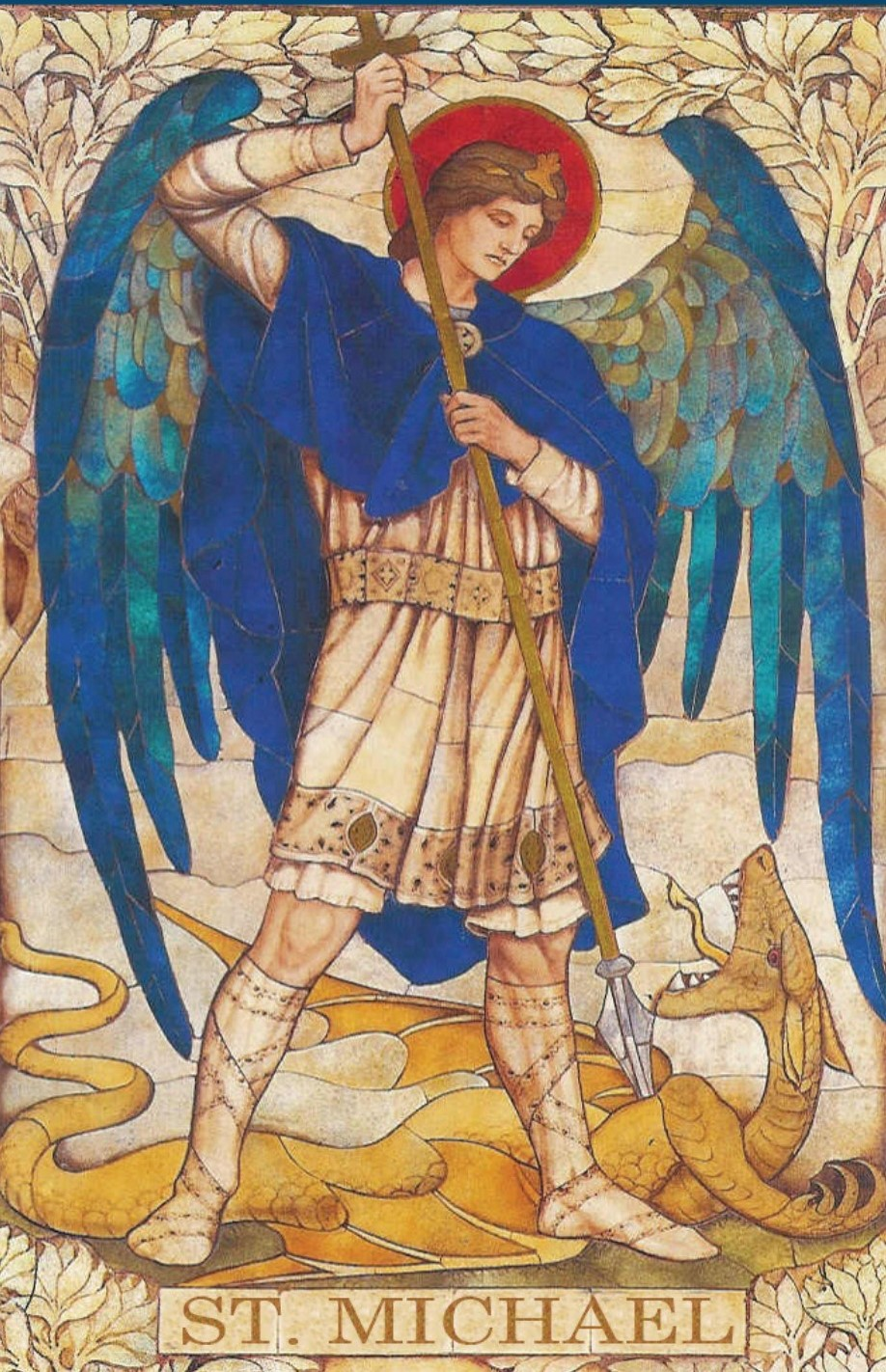 St. Michael The Archangel Killing The Dragon  Who Attacked the Woman & Her Children In The Book Of Revelations