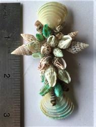 Galilean Style Seashell Cross - Turquoise