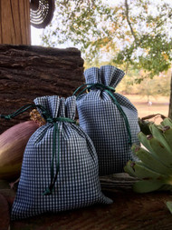 Agnus Dei Farm Gingham Bag 6x9