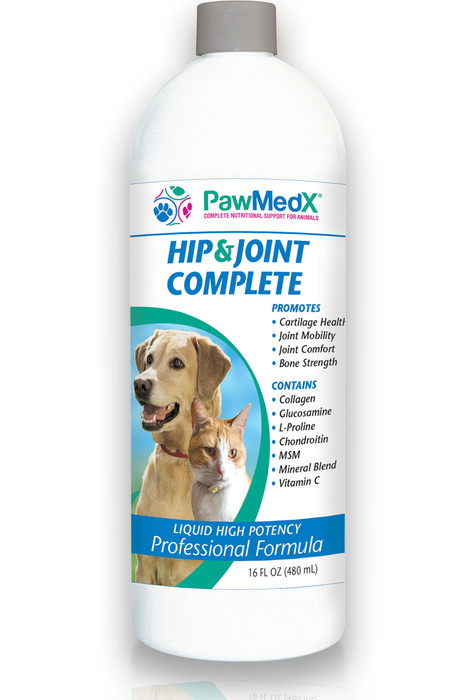 PawMedX Hip & Joint Support for Animals, High-Potency Professional Formula, Supports Healthy Bones and Joints, Contains Natural Glucosamine HCL-Sulfate, Chondroitin, MSM, Type II Collagen, L-Proline, Vitamin C, Manganese, Boron, Calcium, Magnesium, Support Cartilage and Joint Repair, Support for synovium fluid and lubrication, Formation of cartilage and anti-inflammatory support,  Protein synthesis and enzyme function for tendons and cartilage, Synthesis of collagen (protein) for formation of connective tissue, Collagen support for ligaments, bones and joint repair, Healthy bone formation and joint flexibility