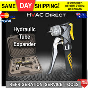 "Professional Hydraulic Tube Expander Kit - 8 Expander Heads for 3/8"" to 1-1/8"" Copper Tube"