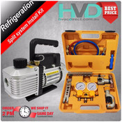 Vacuum Pump and HVAC Manifold Tool Kit for Refrigeration split Installations
