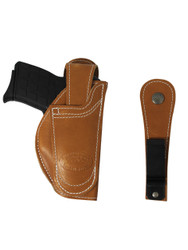 Tan Leather 360Carry 12 Option OWB IWB Cross Draw Holster for 380 Ultra Compact 9mm 40 45 Pistols