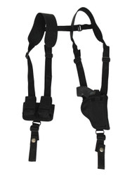 "New Vertical Concealment Shoulder Holster w/ Speed-loader Pouch for 2"" Snub Nose .38 .357 Revolvers (#SL53-2VR)"