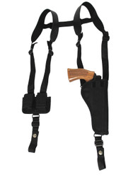 "Vertical Shoulder Holster w/ Speed-loader Pouch for 6"" .38 .357 .41 Revolvers"