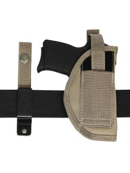 ambidextrous holster with interchangeable belt clip or loop options