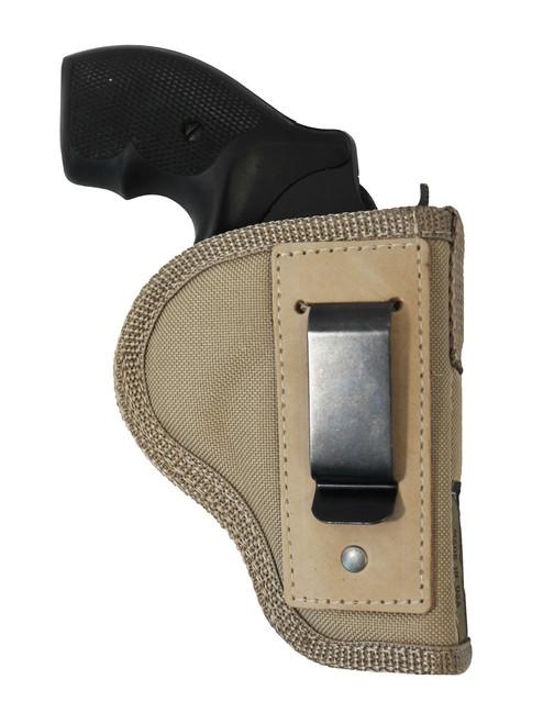 """Desert Sand Inside the Waistband Holster for 2"""", Snub-Nose .38 .357 Revolvers"""