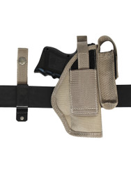 Desert Sand 360Carry 8 Option OWB Cross Draw Holster w/ Mag Pouch for Compact 9mm 40 45 Pistols
