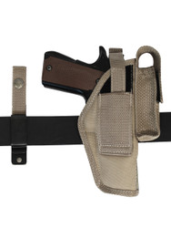 Desert Sand 360Carry 8 Option OWB Cross Draw Holster w/ Mag Pouch for Full Size 9mm 40 45 Pistols
