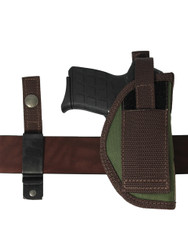 Outside the Waistband belt holster with interchangeable belt clip