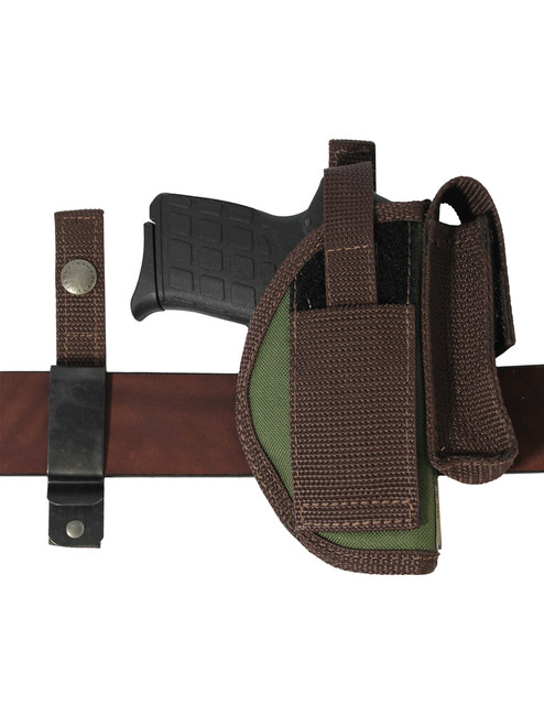 Ambidextrous OWB holster with interchangeable belt clip