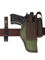 Woodland Green 360Carry 8 Option OWB Cross Draw Holster w/ Mag Pouch for Full Size 9mm 40 45 Pistols
