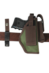 Woodland Green 360Carry 8 Option OWB Cross Draw Holster w/ Mag Pouch for Compact 9mm 40 45 Pistols