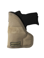 Desert Sand Ambidextrous Pocket Holster for Compact 9mm 40 45 Pistols