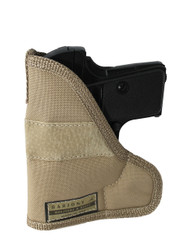 Desert Sand Ambidextrous Pocket Holster for Mini/Pocket .22 .25 .380 .32 Pistols