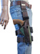 """Woodland Green Tactical Leg Holster for 4"""" .38 .357 .41 .44 Revolvers"""