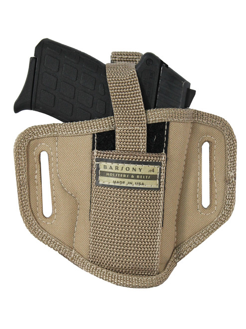 Desert Sand 6 Position Ambidextrous Pancake Holster for 380, Ultra Compact 9mm 40 45 Pistols