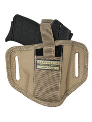 New Desert Sand 6 Position Ambidextrous Pancake Holster for 380, Ultra Compact 9mm 40 45 Pistols (#34-1DS)