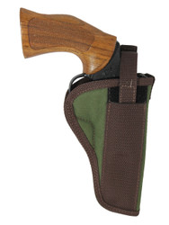 "Woodland Green OWB Holster for 4"" 22 38 357 41 44 Revolvers"