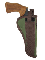 "Woodland Green OWB Holster for 6"" 22 38 357 41 44 Revolvers"