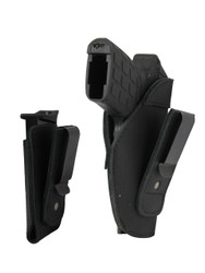 New Black Leather Tuckable IWB Holster + Magazine Pouch for Small 380, Ultra Compact 9mm 40 45 Pistols (CTU68-4BL)