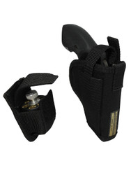 """New OWB Holster + Speed-loader Pouch for 2"""", Snub-Nose .38 .357 Revolvers (#53-2SL)"""