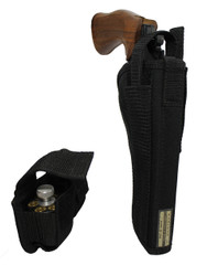 """New Outside the Waistband (OWB) Holster + Speed-loader Pouch for 6"""" 22 38 357 41 44 Revolvers (#53-6SL)"""