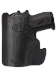 Black Leather Ambidextrous Pocket Holster for Mini/Pocket.22 .25 .380 .32 Pistols
