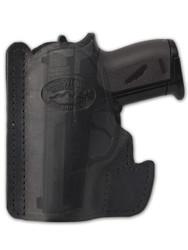 Black Leather Ambidextrous Pocket Holster for Mini/Pocket.22 .25 .380 .32 Pistols